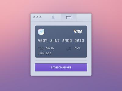 Edit Credit Card ui ux mac native pixels