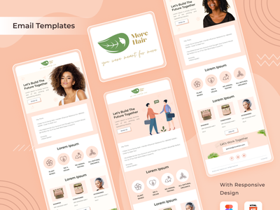 More Hair Email Template UI newsletter email template ui minimal clean