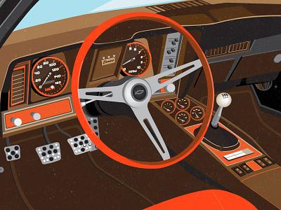 Chevrolet camaro SS 1967 auto repair car club rider driver interior salon compartment infographic illustration passenger vehicle auto drive sport car sport ss1967 camaro chevrolet car