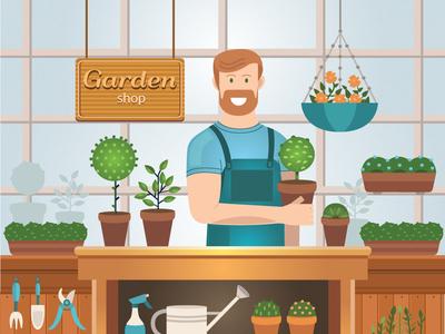 Illustration of gardening