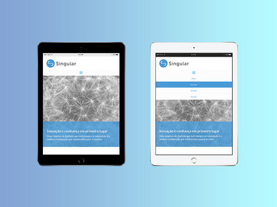 Clean company UI website responsive web design mobile ui