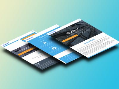 ECM Landing Page website responsive web design mobile ui