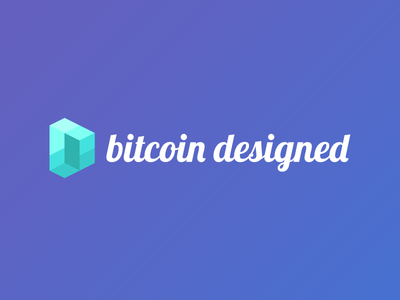 Bitcoin Designed visual identity bitcoin branding logo