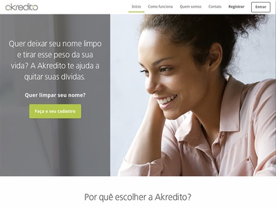 Landing page for startup in financial services css html web design ui design ux design ux