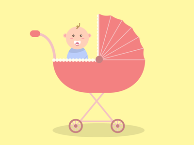 Baby ride! illustration graphic design ui design flat design