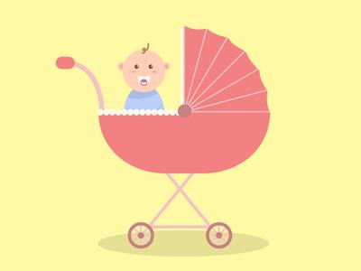 Baby ride! illustration graphic design ui design flat design