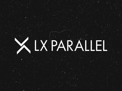Logo for LX PARALLEL brutalist minimalist design logo