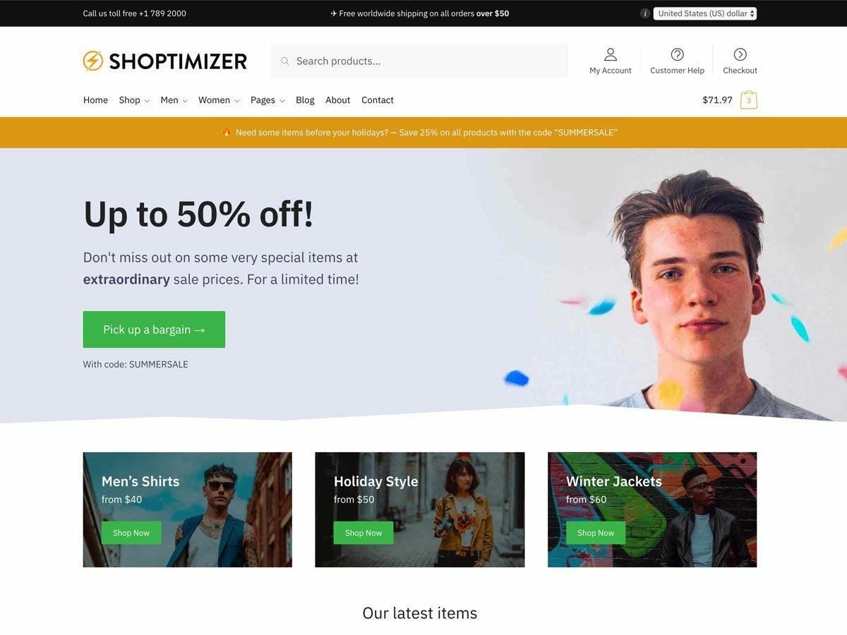 Shoptimizer Fast WooCommerce Theme speed performance ecommerce design design woocommerce theme theme wordpress ecommerce woocommerce