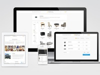 Responsive furniture ecommerce