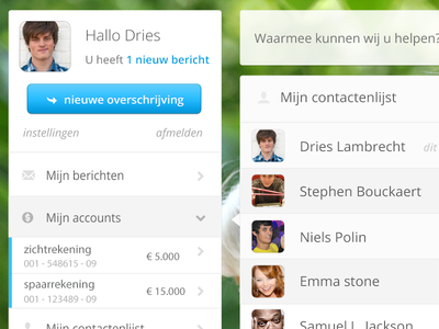 Dashboard online banking