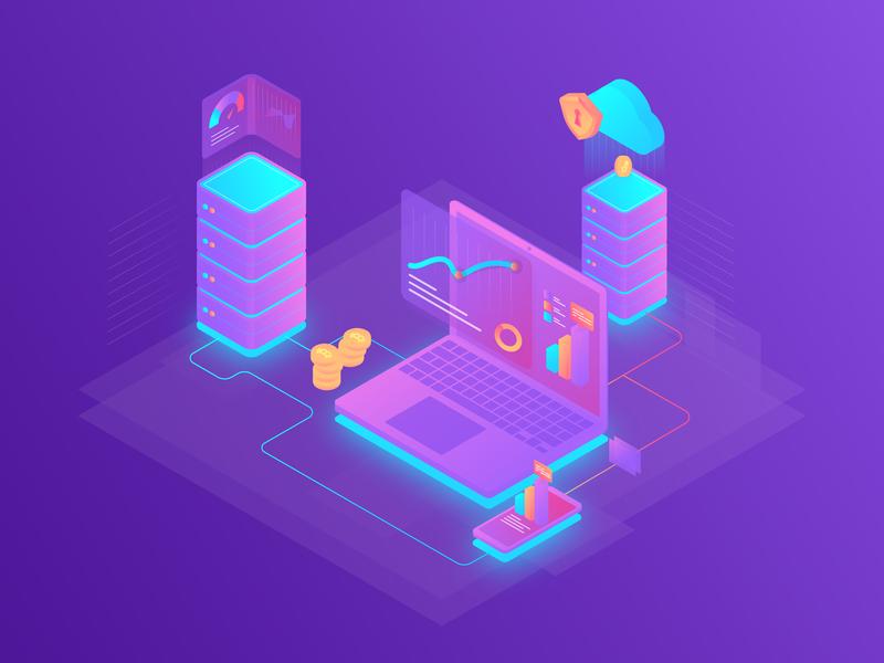 Cryptocurrency isometric illustration isometric design isometric crypto currency ui icon