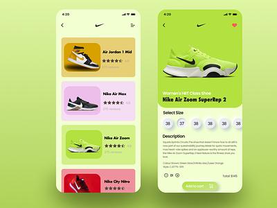 Nike shoes App logo graphic design 3d branding
