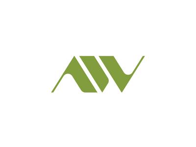 AW logo sign gradientlogo emblem sign icondesign icon logodesign minimal logo