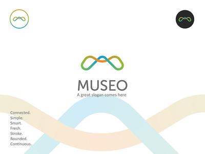 Unused M logo gradient blend stroke logotype emblem sign icondesign icon logodesign minimal logo