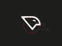 P - bird logo sign branddesign sign minimallogo branding logodesign logo minimal