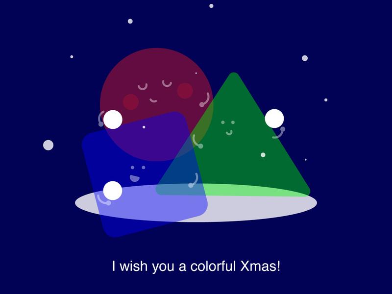 MerryXmas dear followers and dribbblers! xmas illustration rgb shapes vector