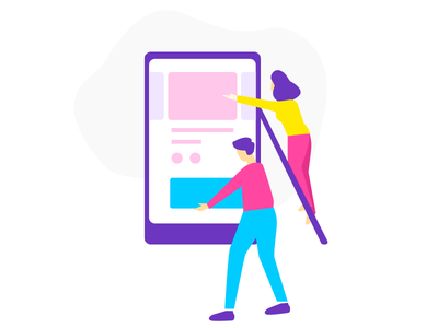 Create a campaign onboarding illustration build campaign