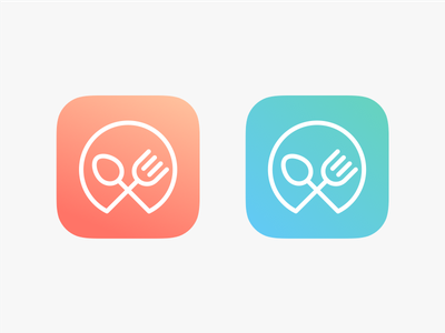 Gradient Logo food delivery icon app app gradient gradient icon colorful restaurant