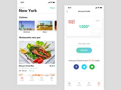 Foozi App Home foozi app delivery design ui food