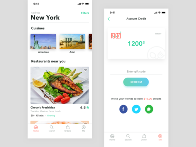 Foozi App Home foozi app delivery design ui food