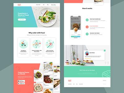 Foozi LandingPage website restaurant illustration landingpage app delivery food