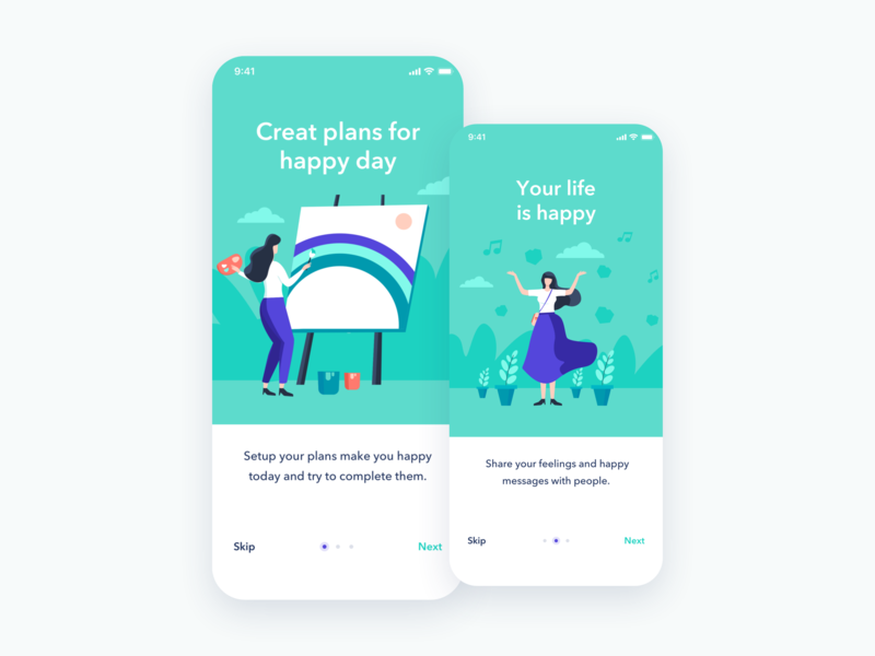 Alife app | Illustration onboarding screen onboarding plan mobile alife app alife app illustration