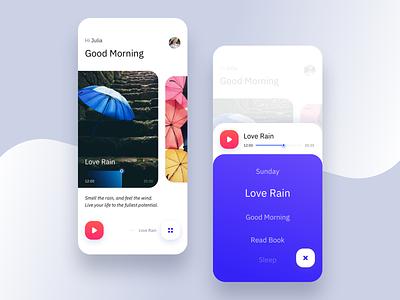 App | The sound of Life product design mobile ui  ux trend ios quotes book rain vietnam app love life relax sound