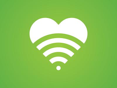 Wireless Health Icon wifi graphic logo illustration heart health love wireless