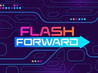 Flash Forward Logo jesus hope glow arrow neon futuristic font space childrens illustration church childrensministry kidsministry logo vector future texture illustrator photoshop illustration