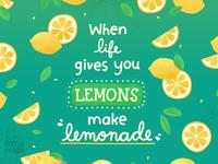 Make lemonade! photoshop texture drink fruit tropical lemon lemons lemonade summer illustrator illustration