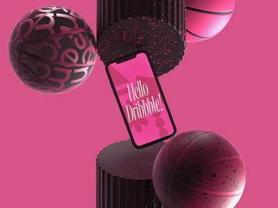Hello Dribbble! debut 3d motion motion 3d hello dribble dribbble invite dribbble design