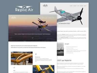 Réplic'air website landing page toulouse aircraft flight landing fly plane website aviation