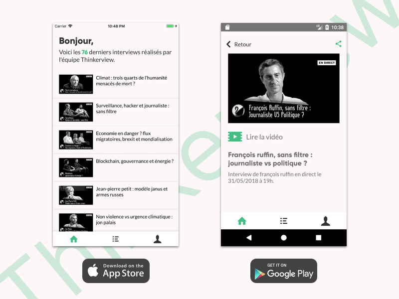 Thinkerview App by Pierre Bresson on Dribbble