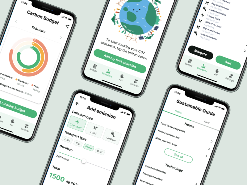 Track and offset CO2 emissions, act for climate change save protect pollution planet ocean kickstarter iceberg warming global glacier environment earth crowdfunding climate change climate breakdown arctic app android activist