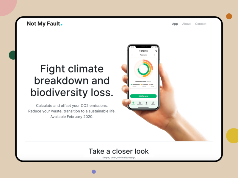NMF Website + 1 Dribbble invite activism dribbble invite pollution planet global warming environment earth crowdfunding climate climate change climate breakdown app website