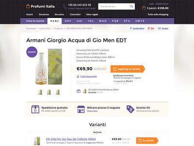 Perfume e-commerce site