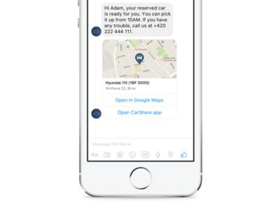 Car Sharing On Messenger Platform