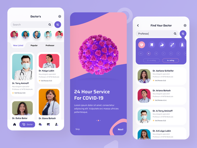 Doctor List Page- Doctor Appointment App digital product userinterface onboarding ui screen figma ios app chat video call doctor appointment doctors application apps app android creative illustration minimal landing page ui design ux design