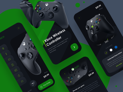 App - Xbox Wireless Controller wireless bluetooth gaming controller xbox user experience userinterface product page application android ios mobile app app