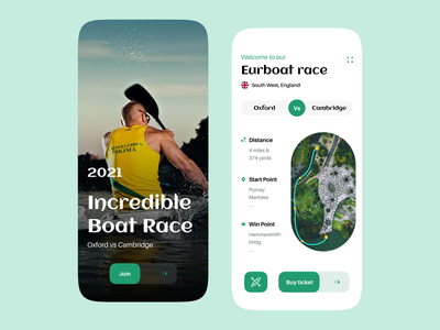 Boat Competition - Mobile App river android ios mobile app user interface user experience landing page apps creative competition boating race boat race ui design minimal ux design