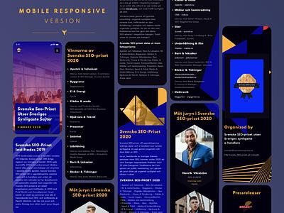 Event Website Landing Page Design event price hero design menu website app dark theme 2020 priset seo responsive creative illustration web template landing page minimal ui design ux design