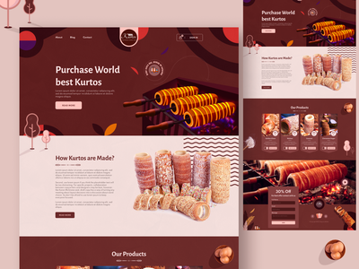 Product Landing Page Design responsive cart figma website sell ecommerce cooking kurtos branding vector app creative illustration web template landing page minimal ui design ux design
