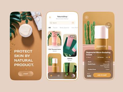 E-Commerce iOS Mobile App beauty mobile ui online shop skin product crime oily cosmetics cart uiux design minimal product sale ecommerce ecommerce application app design ios applicaiton app mobile app ux ui