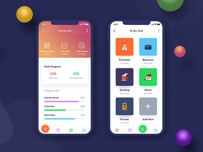 To Do Task - App Concept Redesign ios screen android mobile apps application minimal app gradient color design uiux to do task iphone x screen screen apps