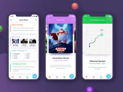 To Do Task - App Design design gradient color minimal app application mobile apps android ios screen apps screen iphone x screen task uiux