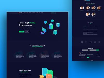 DigitMin - Cryptocurrency Landing Page uiux ico digital currencies currency exchange cryptocurrency crypto trading crypto consulting blockchain bitcoin mining bitcoin