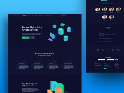 DigitMin - Cryptocurrency Landing Page