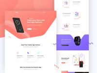 Duzel - App Landing page Design