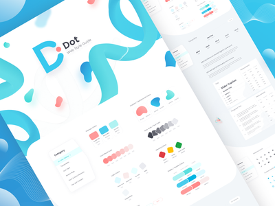 Dot - Web Style Guide creative branding minimal gradient style sheet web style guide ui design landing page ux design web template