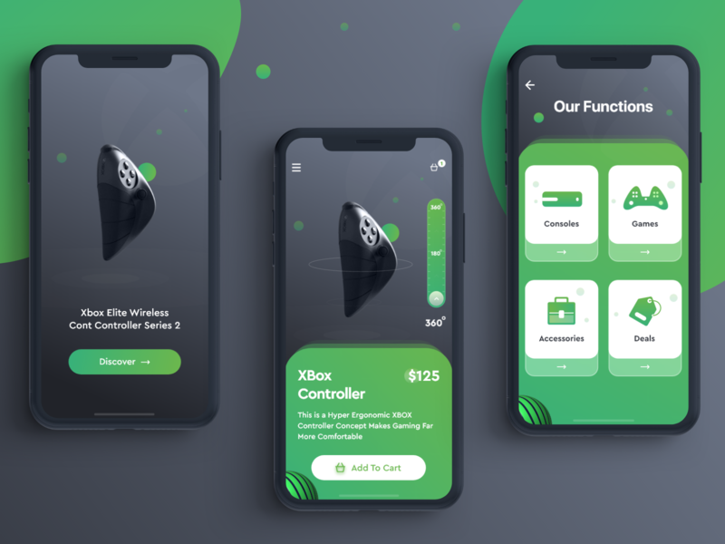 iOS App Design - Xbox Controller by Shafiqul Islam 🌱 on